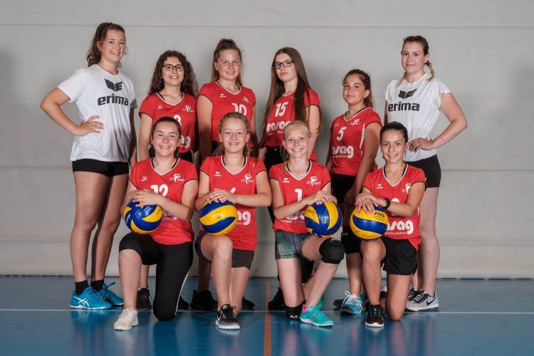 Mannschaftsfotos 2017 des Volleyballvereines VC Kanti Schaffhausen.