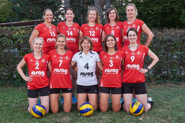 Teamfoto der 3. Liga Mannschaft vom VC Kanti, Saison 2018/19.