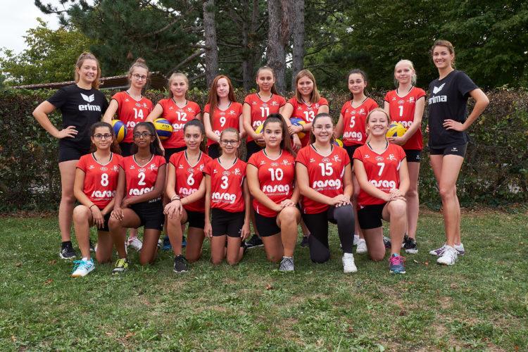 Teamfoto der U 15 2 Mannschaft vom VC Kanti, Saison 2018/19.