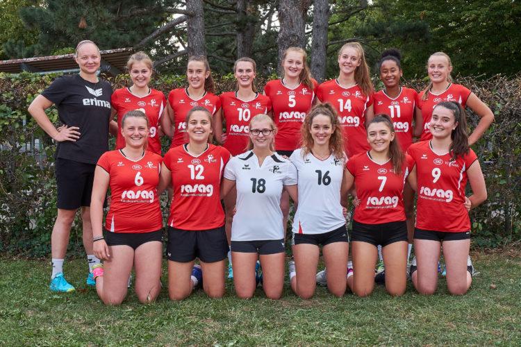 Teamfoto der 4. Liga Mannschaft vom VC Kanti, Saison 2018/19.