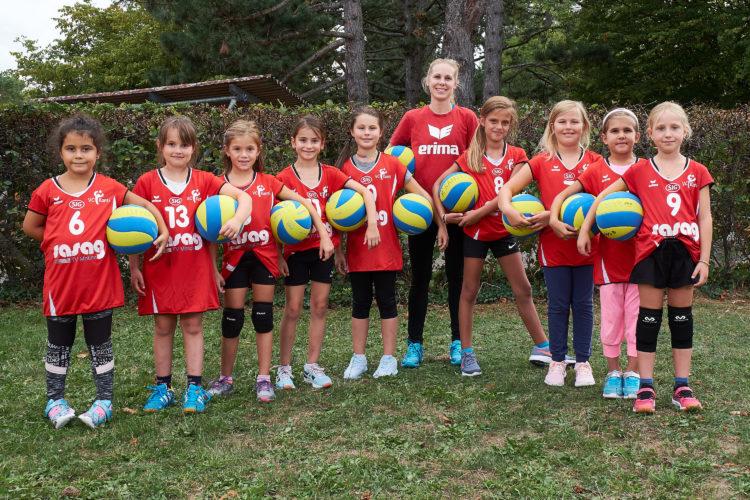Teamfoto der Volley Kids vom VC Kanti, Saison 2018/19.